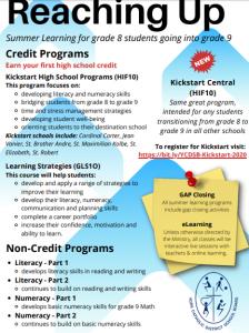Grade 8 Summer Programs